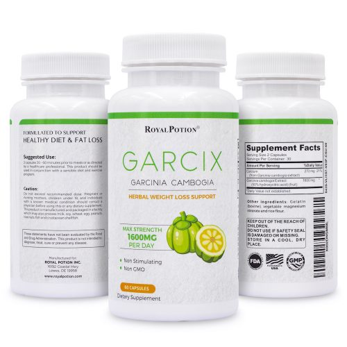 GARCIX Garcinia Cambogia Extract 1600mg 50% HCA Appetite Suppressant, Metabolism Booster, Carb Blocker Capsules | 60 Caps